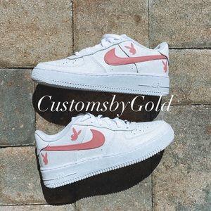 Custom all pink PLAYBOY Air Force 1